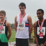 Cammy receiving his Gold medal!